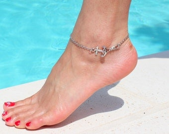 Anchors away! Anchors anklet