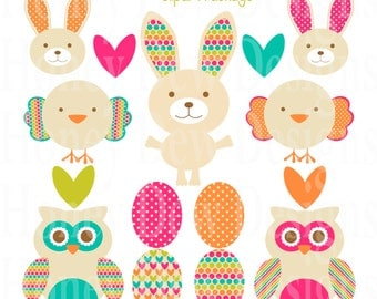 Instant Download - Clipart Package 200 Easter Clipart