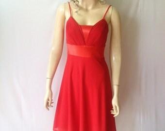 Red Bridesmaid Dress. Evening Dress