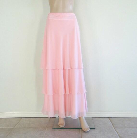 light pink maxi skirt pink skirt floor by