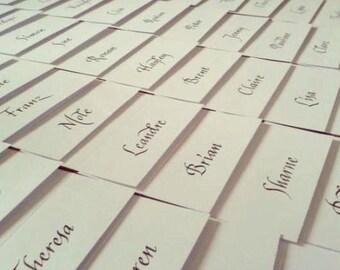 Wedding name place cards  - italic