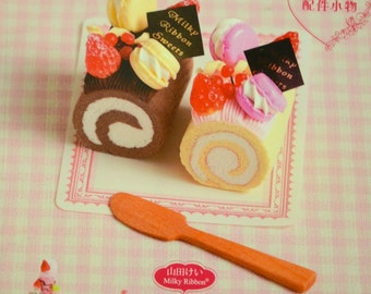 Cute Clay Sweets Decorations by Milky Ribbon - Japanese Craft Book (In Chinese)