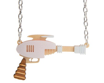 Raygun necklace - laser cut acrylic