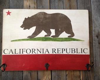 California Flag Hat Rack