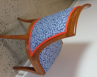 Closing down sale Meet Theo :  A Vintage Revived Chair in Blue and Orange
