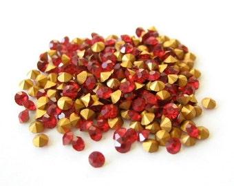 36 Swarovski Siam Red Chatons 20PP 2.5mm Rhinestone Crystal