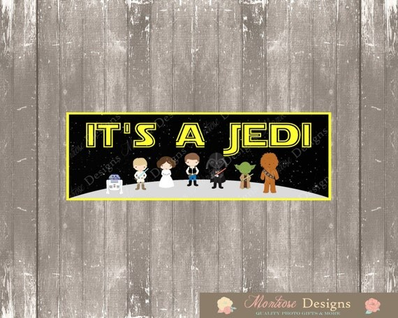 Star Wars Baby Shower 2ft X 6ft Banner (Itu0027s A Jedi) INSTANT DOWNLOAD