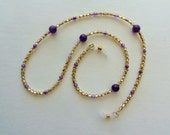 Eyeglass Chain,  Amethyst,  Eyeglass Holder,  Vintage Accessories