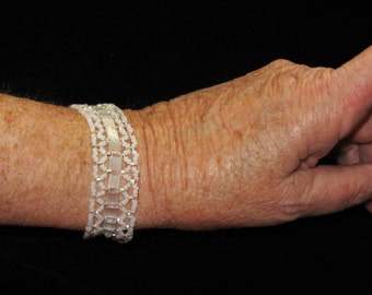 Embellished Tila Band Beaded Bracelet