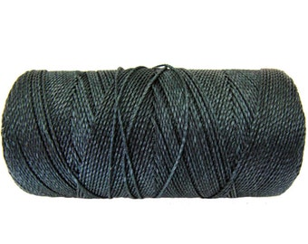 Macrame Cord, 15 meters/16 yards Friendship Bracelet String, Braided Bracelet Cord - Dark Grey