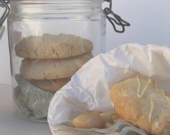 Gluten Free Macadamia and White chocolate Cookies