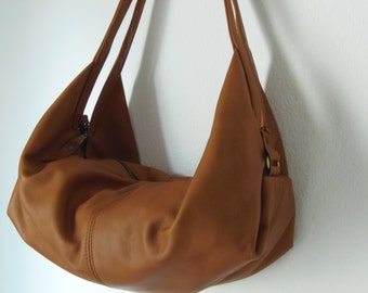Leather shoulder bag - Women leather bag - Soft leather purse - DeLUNA bag