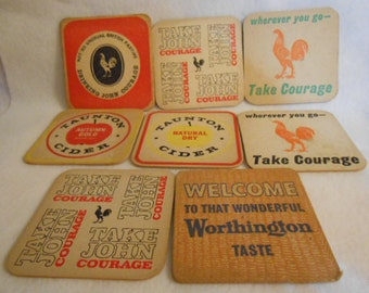 Vintage English Pub Coasters