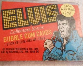 Elvis Bubble Gum Card Wrapper