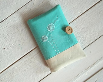 Passport cover, Mint green, Dandelion