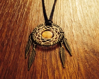 Hippie Peace Dreamcatcher Necklace