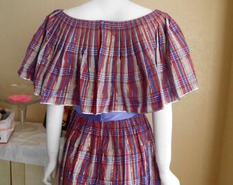 1950-Vintage-100% cotton peasant dress