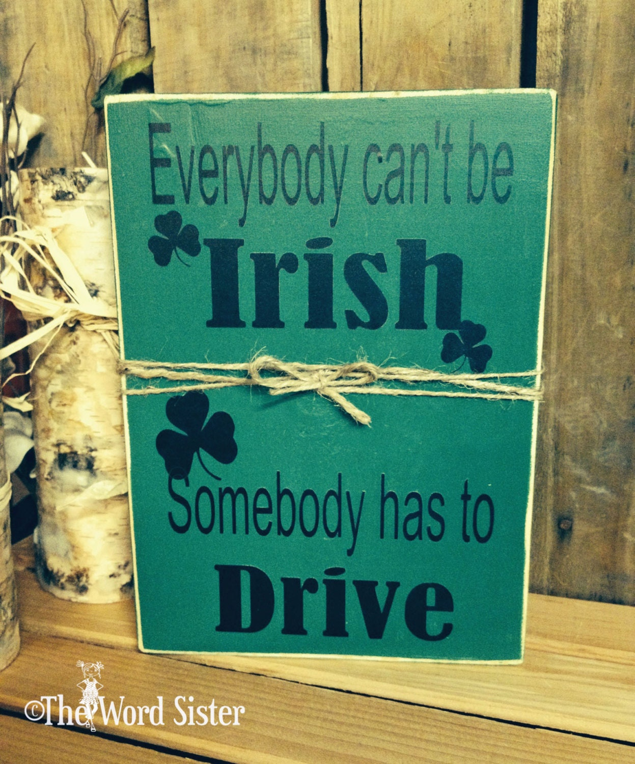 St patricks day irish decor 7x10 not for Irish home decorations