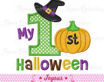 Instant Download My 1st Halloween Applique Machine Embroidery Design NO:1359