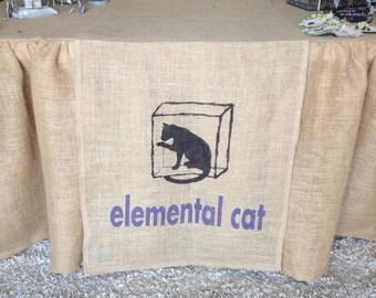 Custom craft show business banner, business banner, burlap banner