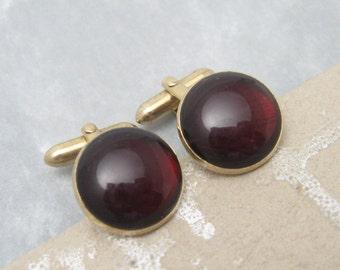 Vintage Red Cufflinks Swank Jewelry H629