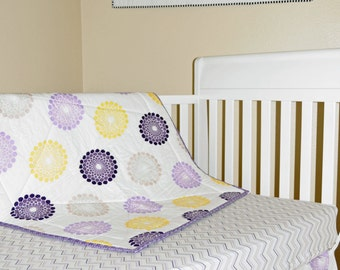 Crib Bedding Ashbury Heights Lavender Yellow Silver