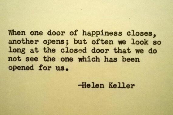 Items similar to HELEN KELLER Quote Typed on Typewriter ...