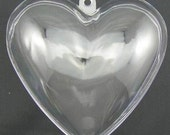 "TWO ( (Price for 4 half pcs)  3.8"" Heart Bath Bomb Mold"