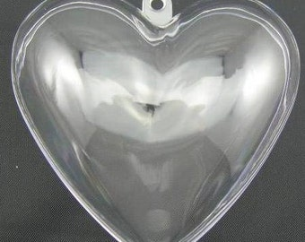 "TWO ( (Price for 4 half pcs)  3.8"" Heart Bath Bomb Mold"