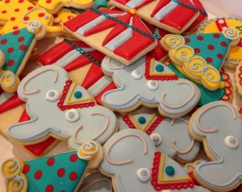 Circus Decorated Sugar Cookies-1 dozen