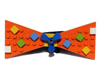 Orange Confetti Bow Ties