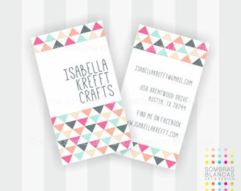 Premade Business Card Design - Triangles
