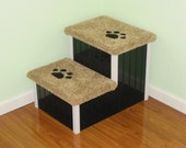 Dog Steps, Large Designer Dog Stairs! Perfect for Large Dogs, Wood & Screw Construction, Very Sturdy, Very Stylish.