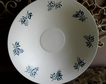 MAGICAL METALS...Large Vintage Decorative Painted Aluminum Bowl