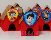 CUSTOM ORDER for KIMBERLY Paw Patrol Party Favors Dog House - set of 20
