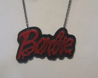 Bleeding Barbie Necklace