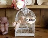 Wedding Birdcage, Rustic Wedding Card Box, Card Box.