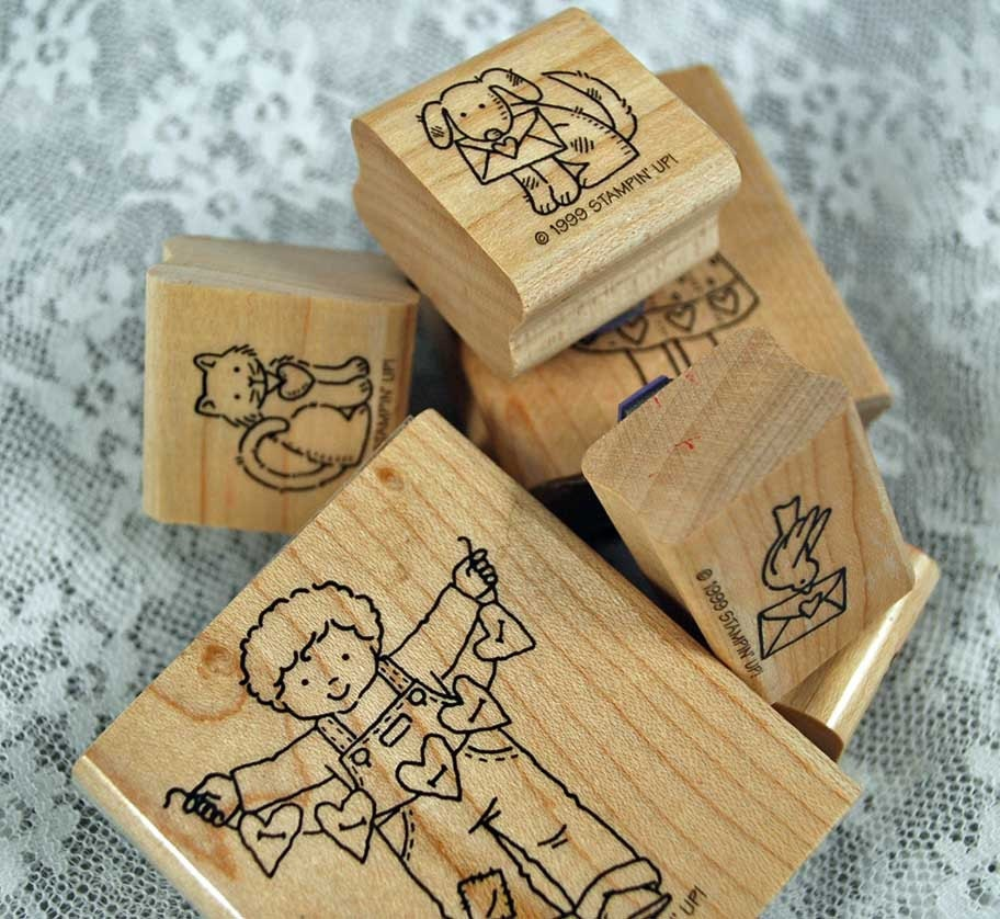 Stampin Up Rubber Stamp Set From The Heart