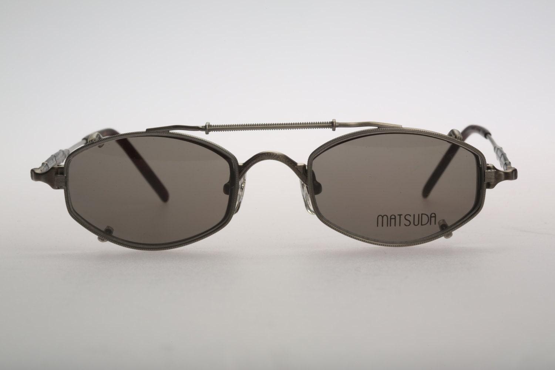 Unusual Designer Eyeglass Frames : Matsuda 10114SF AS / Vinatge clip on eyeglasses / NOS ...
