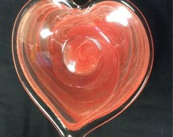 Lovely Handblown Heart bowl