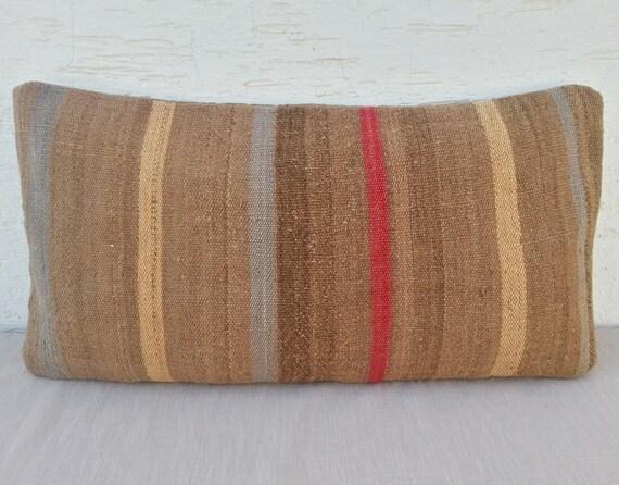32x60 cm copricuscini kilim tribali fatti a mano di - Cuscini lunghi per letto ...