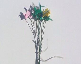 Precious Miniature Peace Crane Bouquet