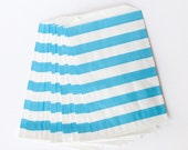 Blue Rugby Stripe Favor Treat Bags from The TomKat Studio