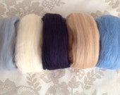 5 x Soft Merino felting wool.