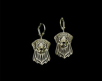 Golden Retriever earrings - gold vermeil (18k gold plated sterling silver)