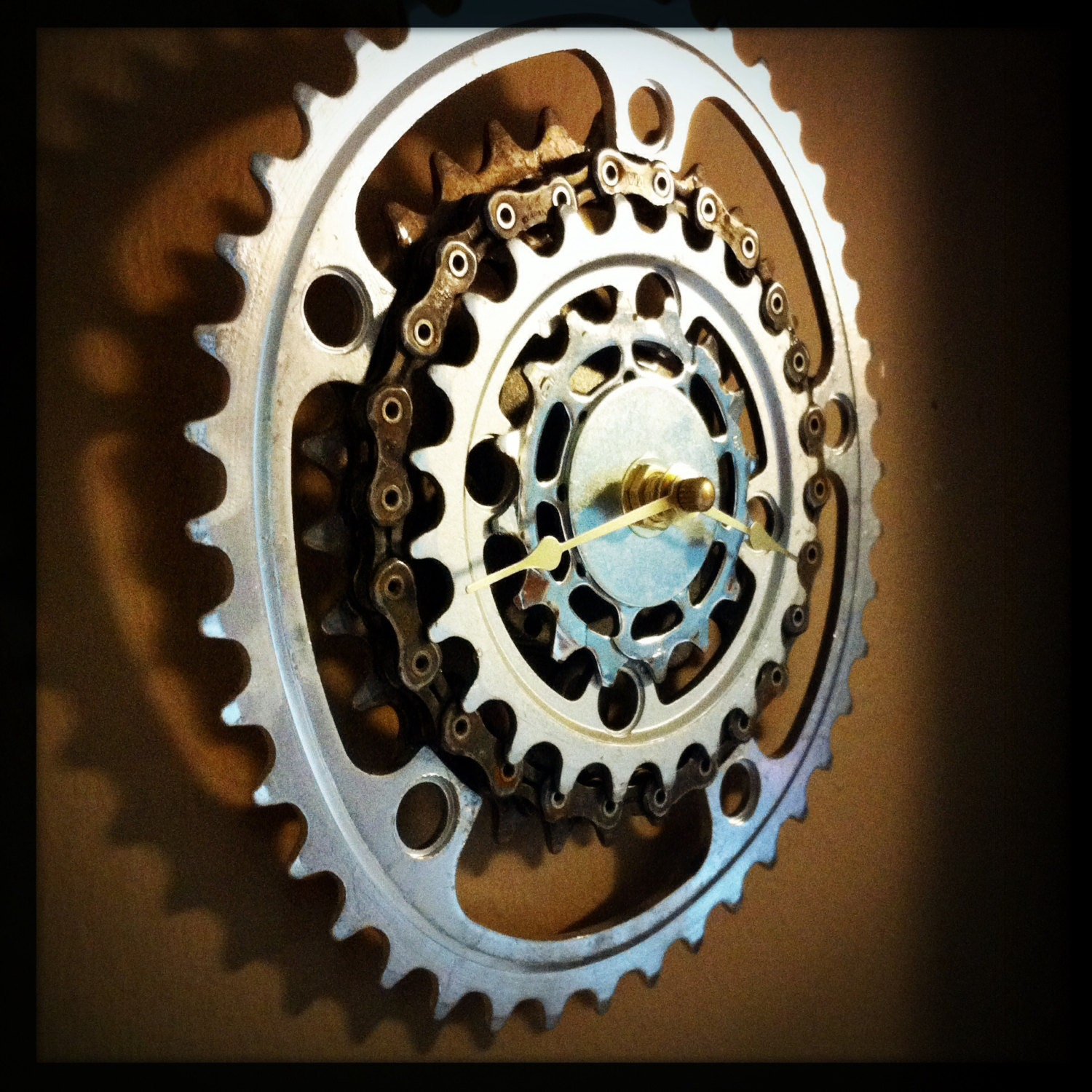 Bicycle wall clock industrial decor steampunk wedding gift zoom amipublicfo Images