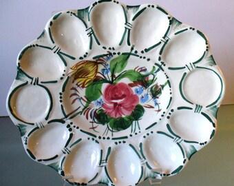 Vintage Made in Italy Egg Platter