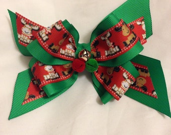 Christmas Minis or Cutie Reindeer Hair Bow