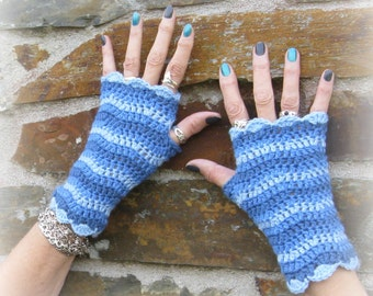 Fingerless gloves.  Zig zag crochet fingerless gloves. Own design. OOAK.Trendy.