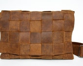 Laptop Leather messenger-bag